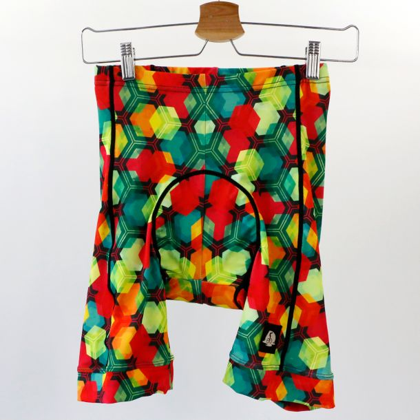 Funky CYCLING Shorts CITRUS CUBES - S