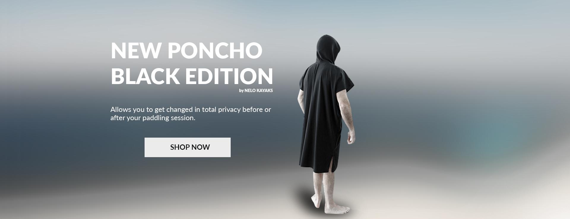 Nelo Black Poncho