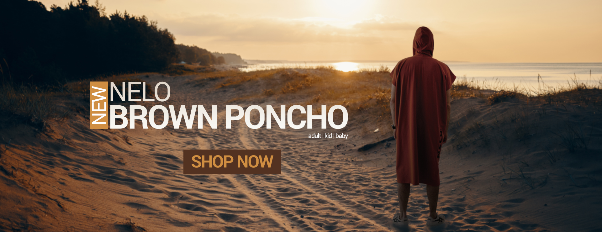 Nelo Brown Poncho